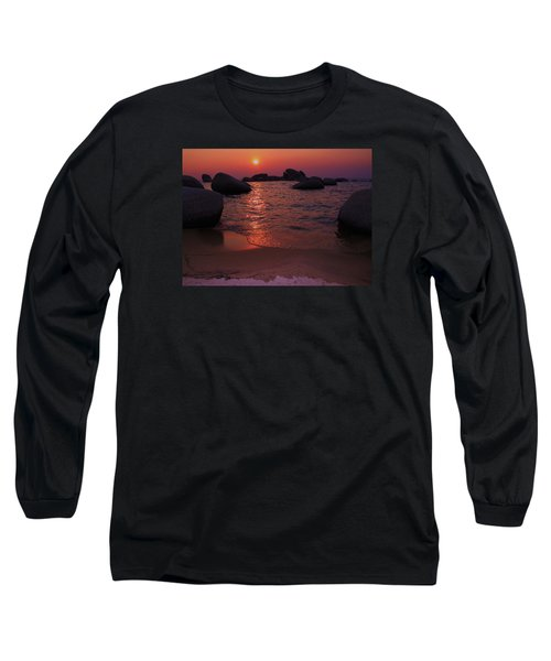 Long Sleeve T-Shirt featuring the photograph Sunset With A Whale by Sean Sarsfield