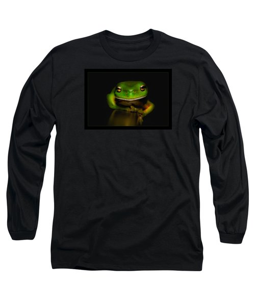 Super Frog 01 Long Sleeve T-Shirt by Kevin Chippindall