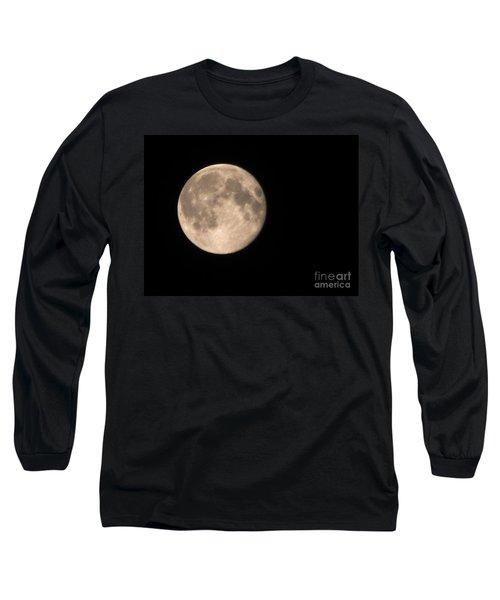Long Sleeve T-Shirt featuring the photograph Super Moon by David Millenheft