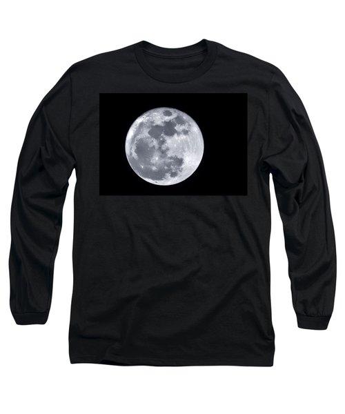 Super Moon Over Arizona  Long Sleeve T-Shirt