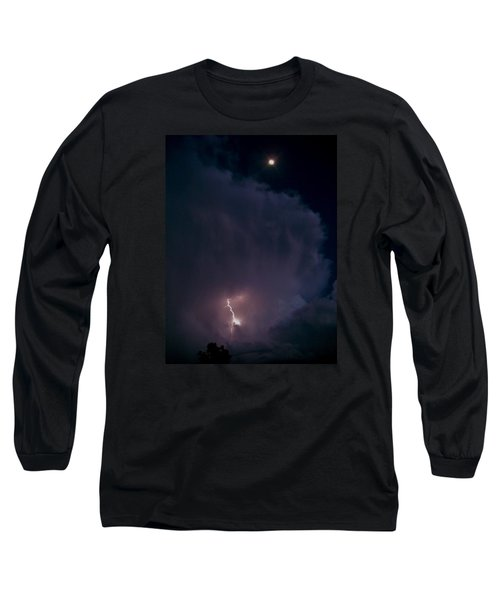 Supercell Moon Long Sleeve T-Shirt by Ed Sweeney