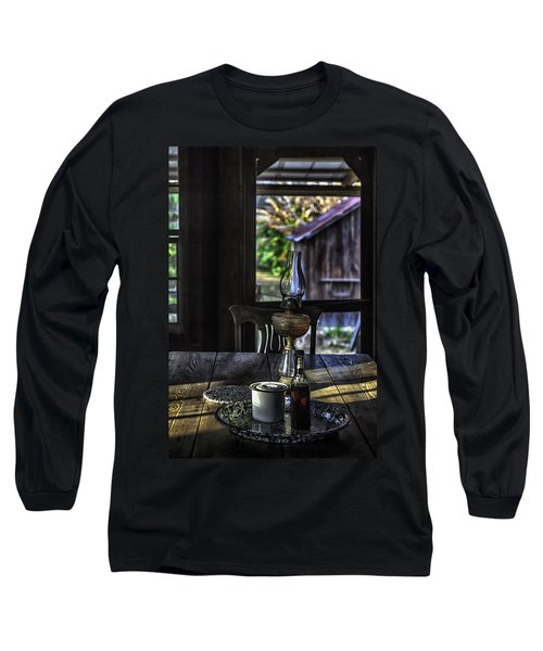 Suppertime In A 1850s Cracker Kitchen Long Sleeve T-Shirt by Lynn Palmer