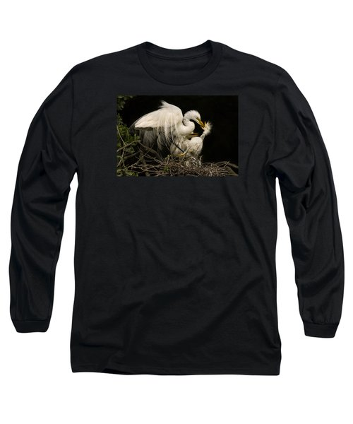 Long Sleeve T-Shirt featuring the photograph Suppertime by Priscilla Burgers