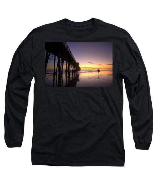 Surfer At Sunset Long Sleeve T-Shirt