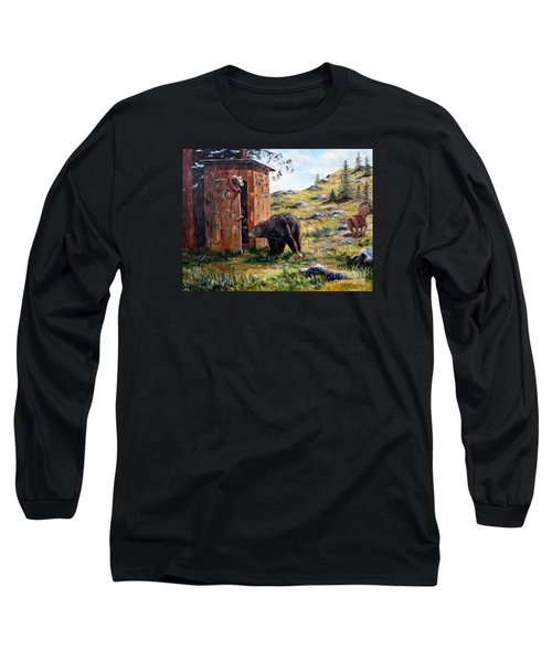 Long Sleeve T-Shirt featuring the painting Surprise Visit by Lee Piper