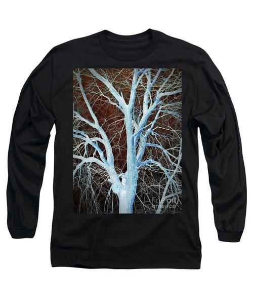 Surreal Blue Tree Long Sleeve T-Shirt