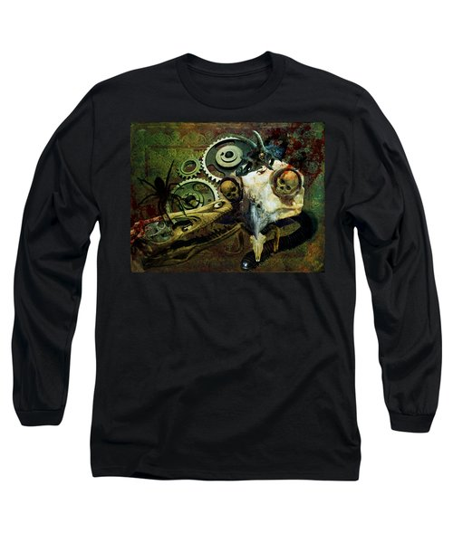 Long Sleeve T-Shirt featuring the painting Surreal Nightmare by Ally  White