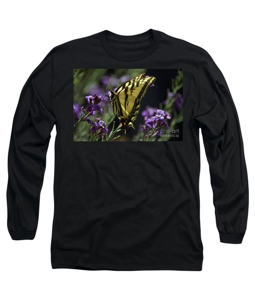 Swallowtail Butterfly On Lavender  Long Sleeve T-Shirt