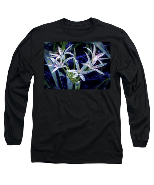 Long Sleeve T-Shirt featuring the photograph Swamp Lilies by Steven Sparks