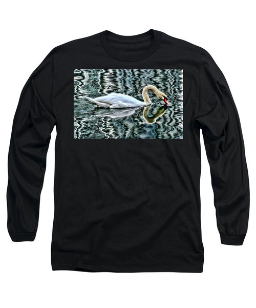 Swan On Lake Eola By Diana Sainz Long Sleeve T-Shirt