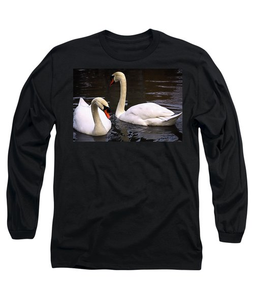 Long Sleeve T-Shirt featuring the photograph Swan Two by Elf Evans