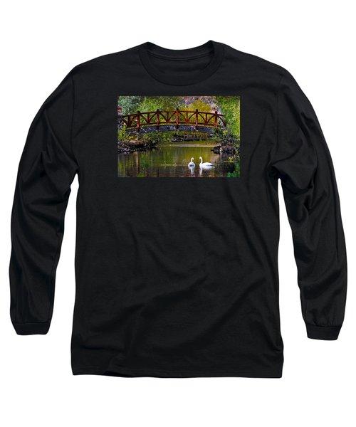 Swans At Caughlin Ranch II Long Sleeve T-Shirt