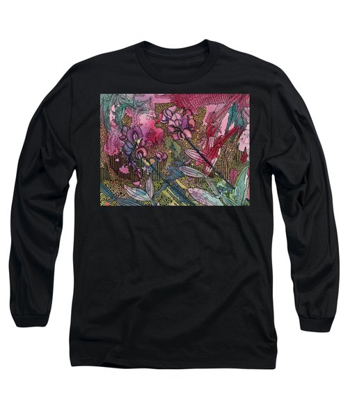 Sweet Peas In Bloom Long Sleeve T-Shirt