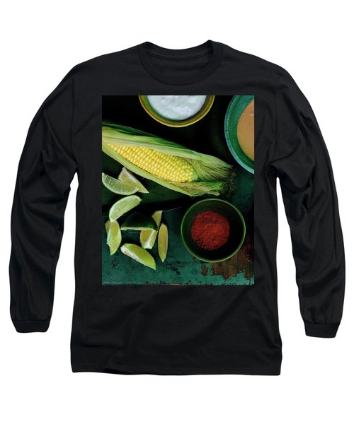 Sweetcorn And Limes Long Sleeve T-Shirt