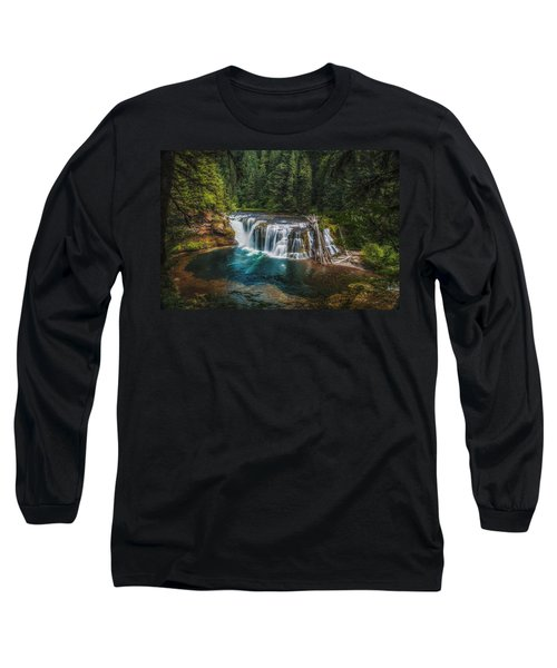 Swimming Hole Long Sleeve T-Shirt by James Heckt
