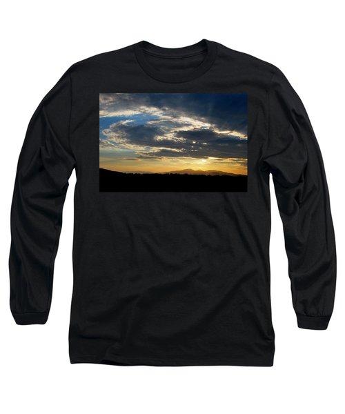 Swirl Sky Landscape Long Sleeve T-Shirt by Matt Harang