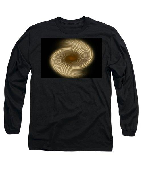 Long Sleeve T-Shirt featuring the photograph Swirling Abstract Design by Charles Beeler