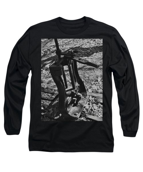 Long Sleeve T-Shirt featuring the photograph Switching Tracks by Sara  Raber