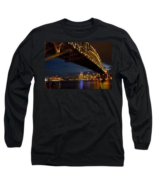 Sydney Harbour Bridge Long Sleeve T-Shirt by Miroslava Jurcik