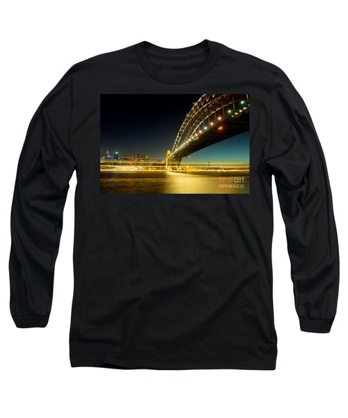 Long Sleeve T-Shirt featuring the photograph Sydney Harbour Bridge by Yew Kwang
