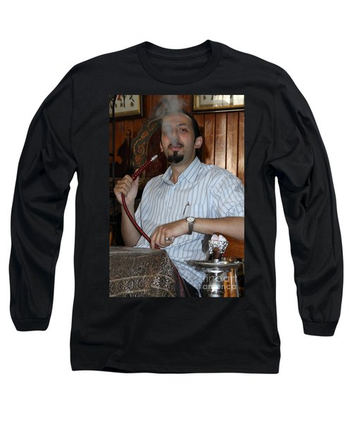 Syrian Man And Waterpipe Long Sleeve T-Shirt