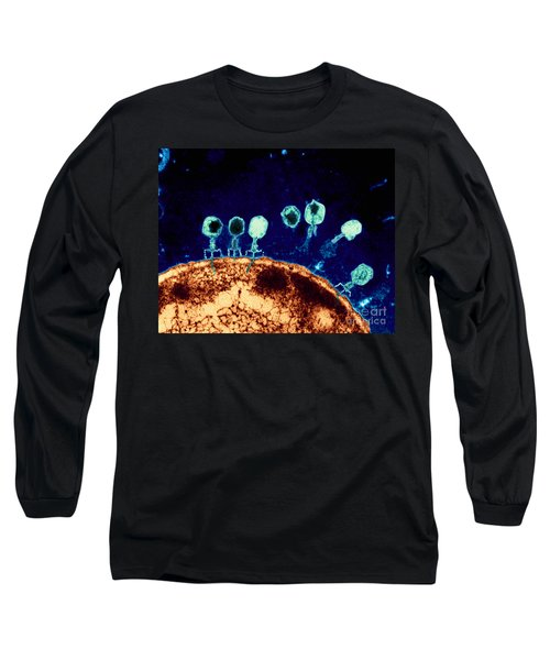 T-bacteriophages And E-coli Long Sleeve T-Shirt