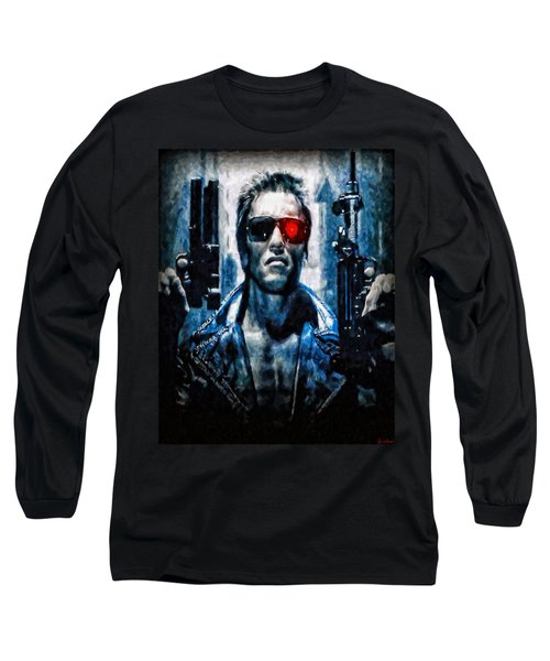 T800 Terminator Long Sleeve T-Shirt by Joe Misrasi