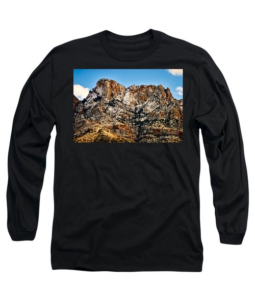 Long Sleeve T-Shirt featuring the photograph Table Mountain In Winter 42 by Mark Myhaver