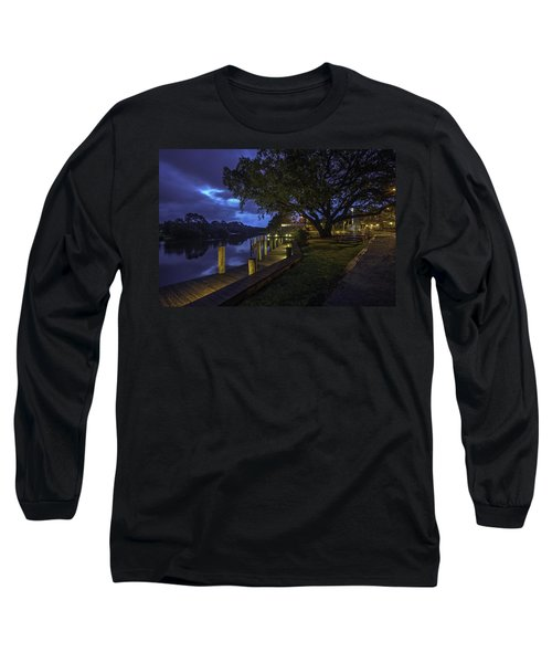 Long Sleeve T-Shirt featuring the digital art Tacky Jacks Before The Storm by Michael Thomas