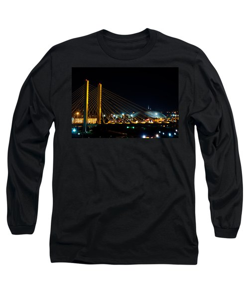 Long Sleeve T-Shirt featuring the photograph Tacoma Dome And Bridge by Tikvah's Hope