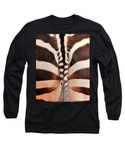Tailing A Zebra Long Sleeve T-Shirt