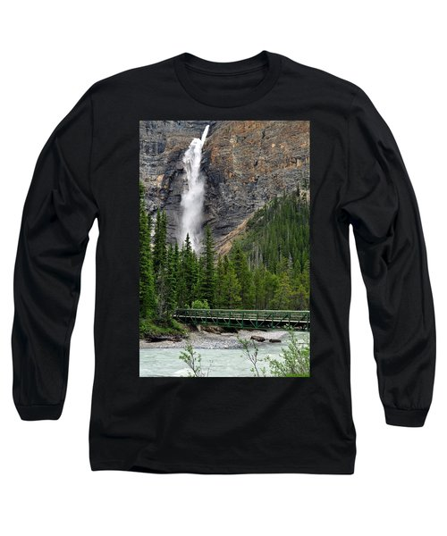 Takakkaw Falls Long Sleeve T-Shirt by Lisa Phillips