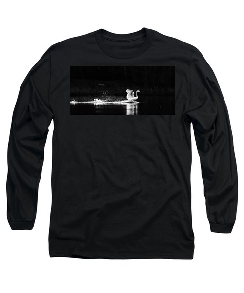 Long Sleeve T-Shirt featuring the photograph Take Off by Rose-Maries Pictures