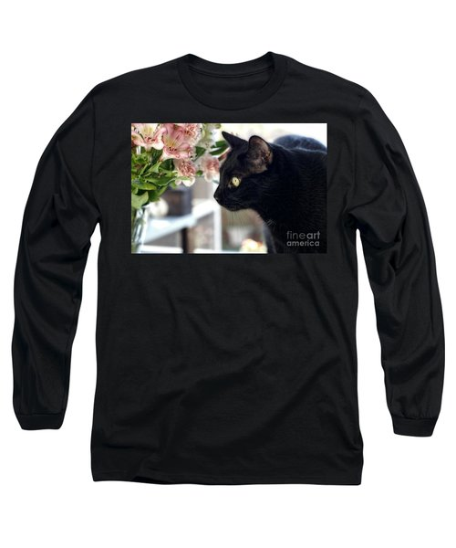 Take Time To Smell The Flowers Long Sleeve T-Shirt by Peggy Hughes