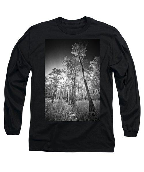 Tall Cypress Trees Long Sleeve T-Shirt by Bradley R Youngberg