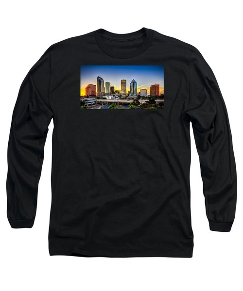 Tampa Skyline Long Sleeve T-Shirt by Marvin Spates