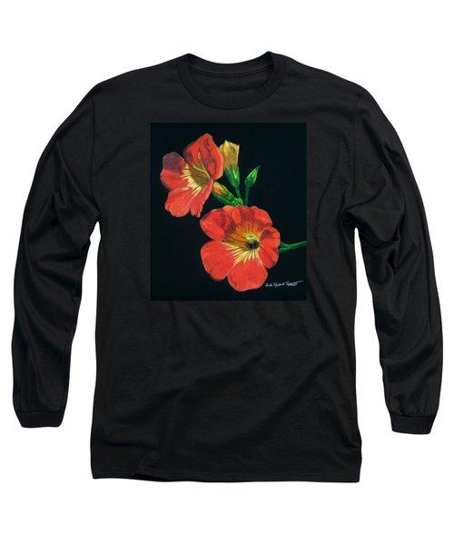 Tangerine Long Sleeve T-Shirt by Anita Putman
