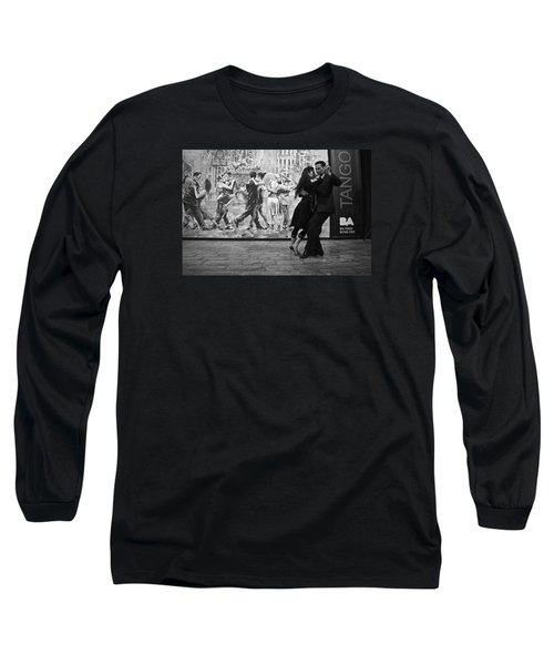 Tango Dancers In Buenos Aires Long Sleeve T-Shirt by Venetia Featherstone-Witty