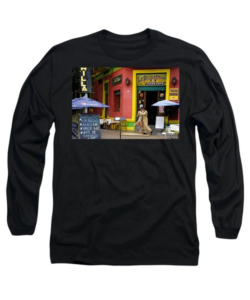 Tango Dancing In La Boca Long Sleeve T-Shirt