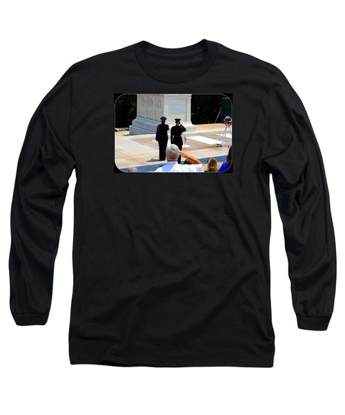 Long Sleeve T-Shirt featuring the photograph Taps At The Tomb Of The Unknown by Patti Whitten