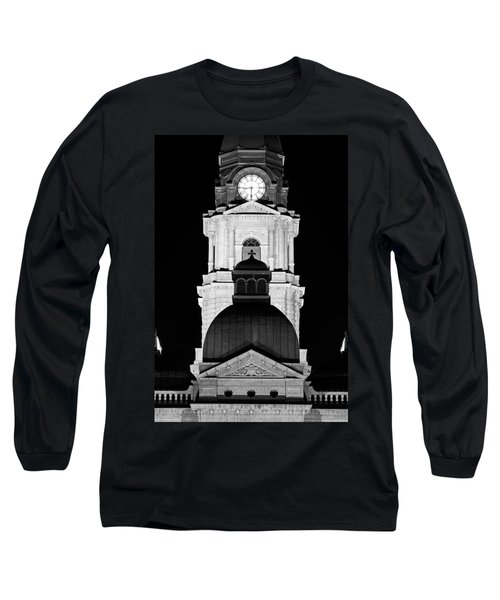 Tarrant County Courthouse Bw V1 020815 Long Sleeve T-Shirt