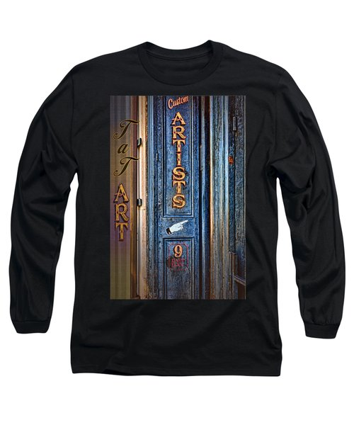 Long Sleeve T-Shirt featuring the photograph Tat Art by Larry Bishop