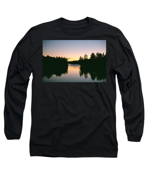 Tea Lake Sunset Long Sleeve T-Shirt by David Porteus