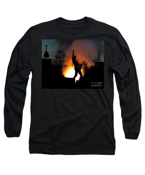 Ted Nugent On Fire Long Sleeve T-Shirt