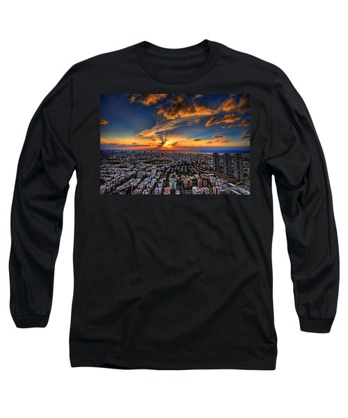 Tel Aviv Sunset Time Long Sleeve T-Shirt