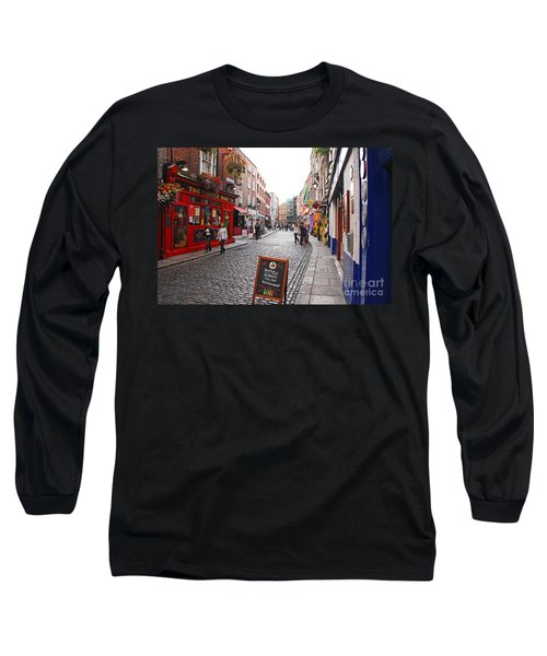 Temple Bar Long Sleeve T-Shirt by Mary Carol Story
