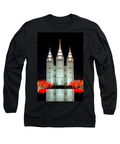 Temple Lights Long Sleeve T-Shirt by Dustin  LeFevre