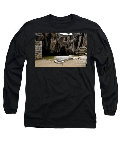 Temple Of The Condor Long Sleeve T-Shirt by Kathy McClure