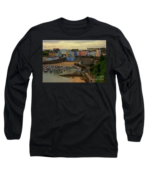 Tenby Harbour In The Morning Long Sleeve T-Shirt