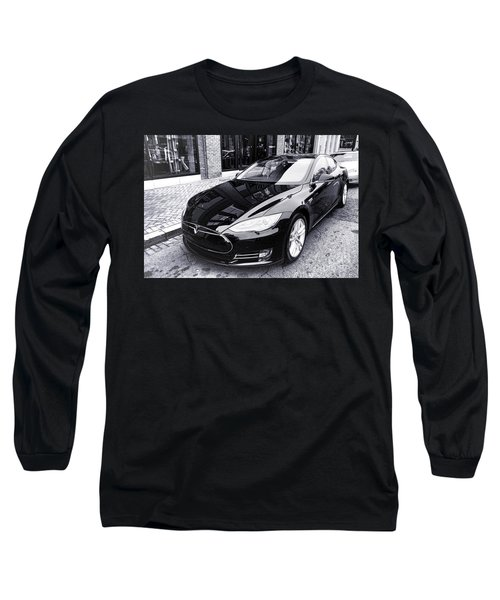 Tesla Model S Long Sleeve T-Shirt